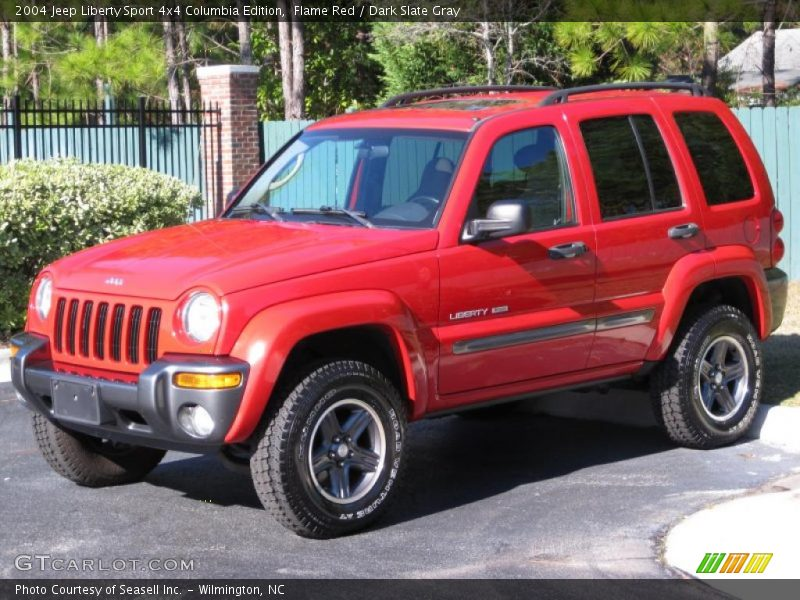 2004 jeep liberty sport 4x4 columbia edition in flame red photo no 39930668. Black Bedroom Furniture Sets. Home Design Ideas