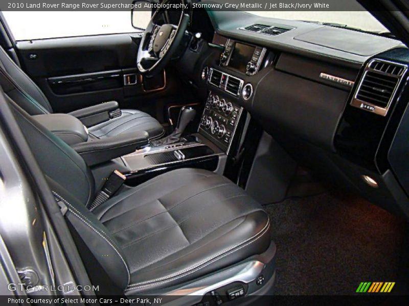 2010 Range Rover Supercharged Autobiography Jet Black Ivory White Interior Photo No 39950718