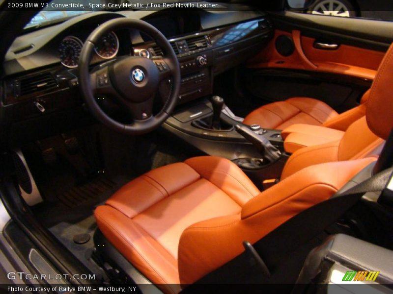 Fox Red Novillo Leather Interior 2009 M3 Convertible Photo No 40175861