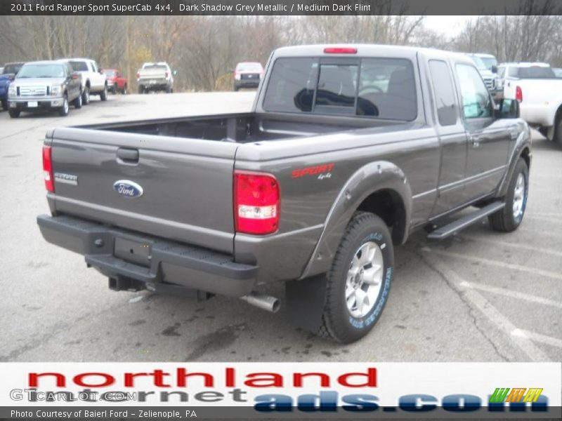 2011 ford ranger sport supercab 4x4 in dark shadow grey metallic photo no 40270842. Black Bedroom Furniture Sets. Home Design Ideas