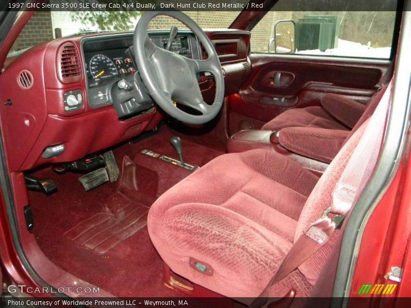Red Interior 1997 Sierra 3500 Sle Crew Cab 4x4 Dually