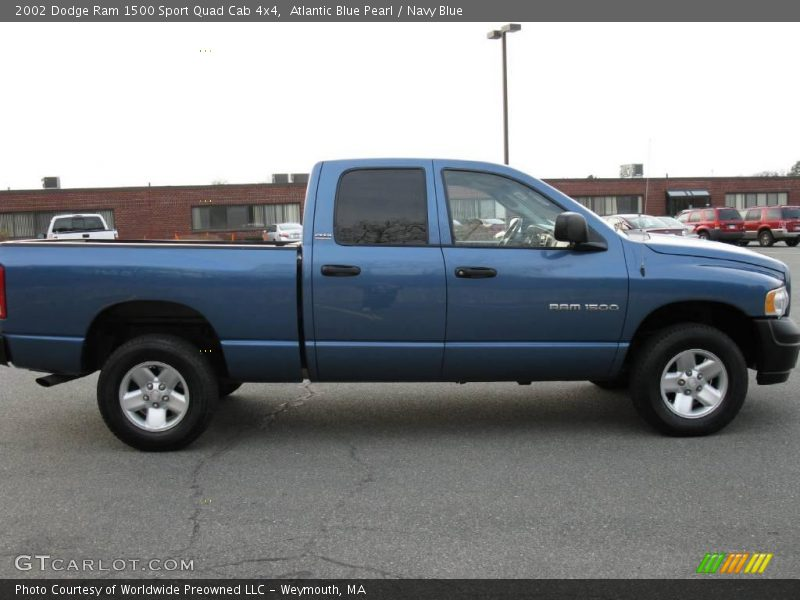 2002 dodge ram 1500 sport quad cab 4x4 in atlantic blue pearl photo no 40635162. Black Bedroom Furniture Sets. Home Design Ideas