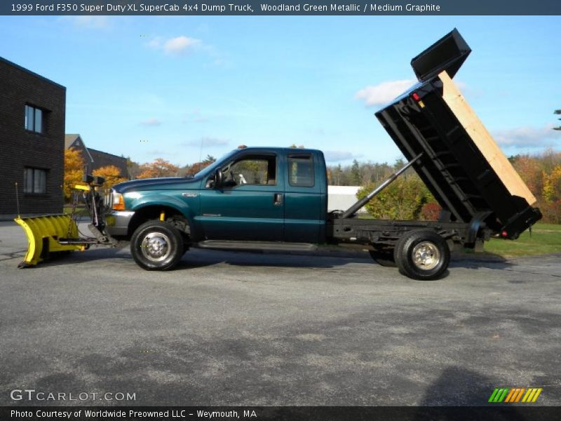1999 Ford F350 Xl Supercab Super Duty News >> 1999 Ford F350 Super Duty XL SuperCab 4x4 Dump Truck in Woodland Green Metallic Photo No ...