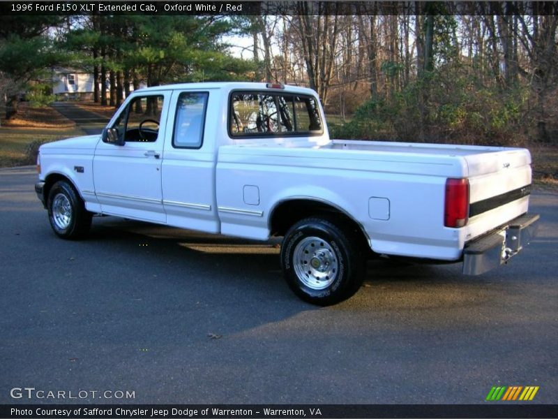 1996 ford f150 xlt extended cab in oxford white photo no 41225247. Black Bedroom Furniture Sets. Home Design Ideas