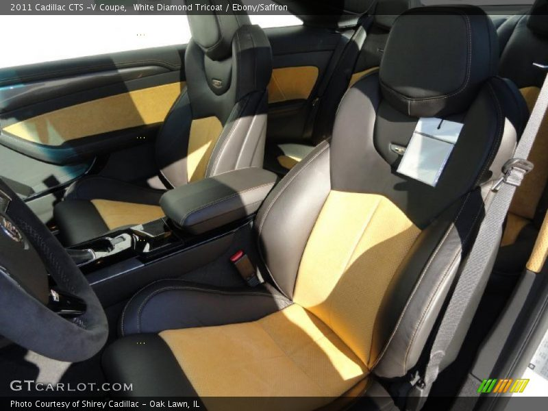 2011 CTS -V Coupe Ebony/Saffron Interior