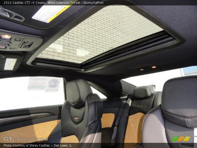 Sunroof of 2011 CTS -V Coupe