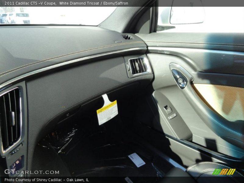 White Diamond Tricoat / Ebony/Saffron 2011 Cadillac CTS -V Coupe