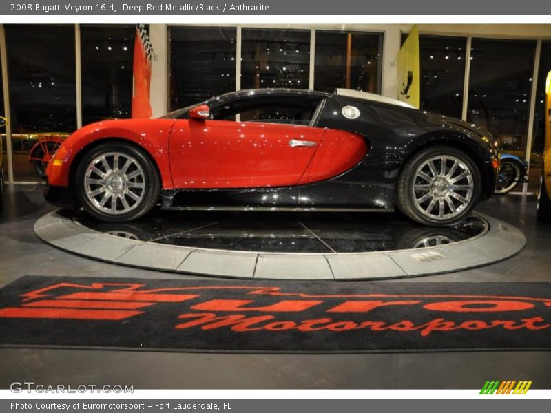 Deep Red Metallic/Black / Anthracite 2008 Bugatti Veyron 16.4