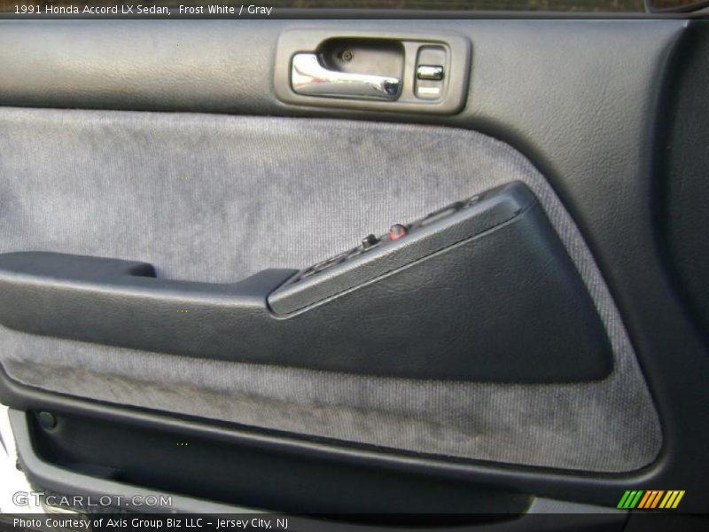 Frost White / Gray 1991 Honda Accord LX Sedan