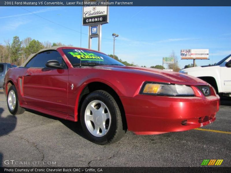 2001 ford mustang v6 convertible in laser red metallic. Black Bedroom Furniture Sets. Home Design Ideas