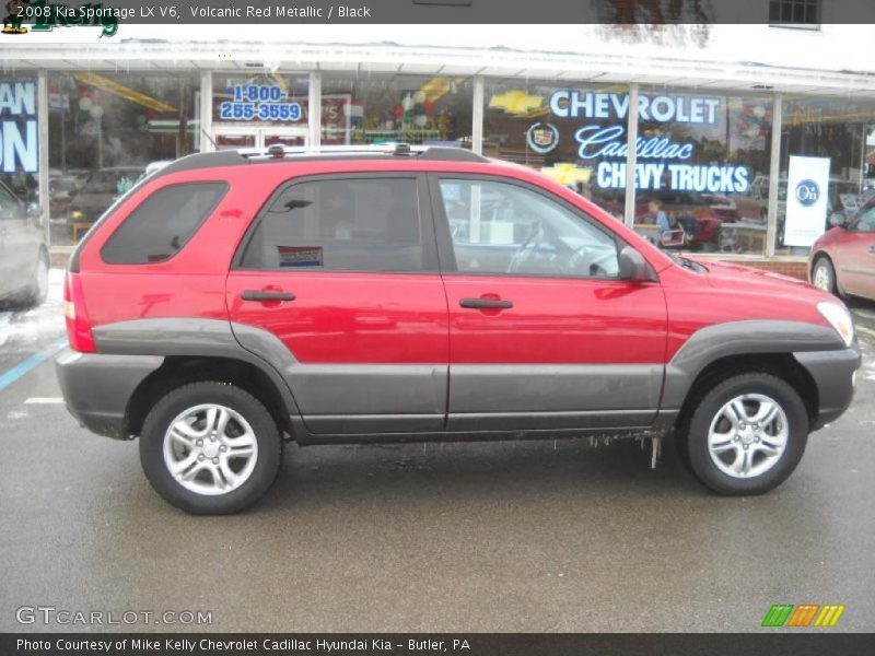 Volcanic Red Metallic / Black 2008 Kia Sportage LX V6