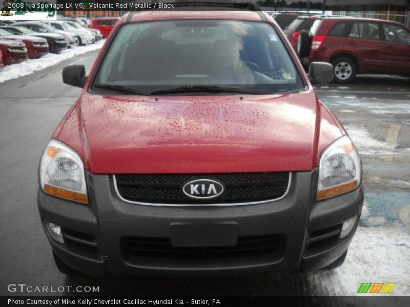 Volcanic Red Metallic / Black 2008 Kia Sportage LX V6