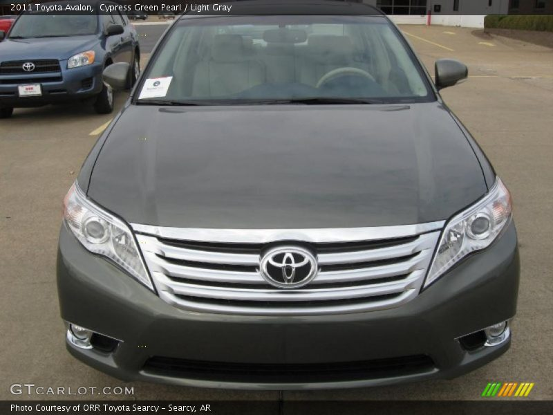 Cypress Green Pearl / Light Gray 2011 Toyota Avalon