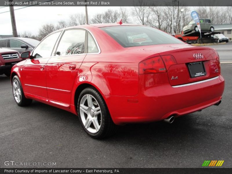 2008 audi a4 2 0t quattro s line sedan in brilliant red. Black Bedroom Furniture Sets. Home Design Ideas