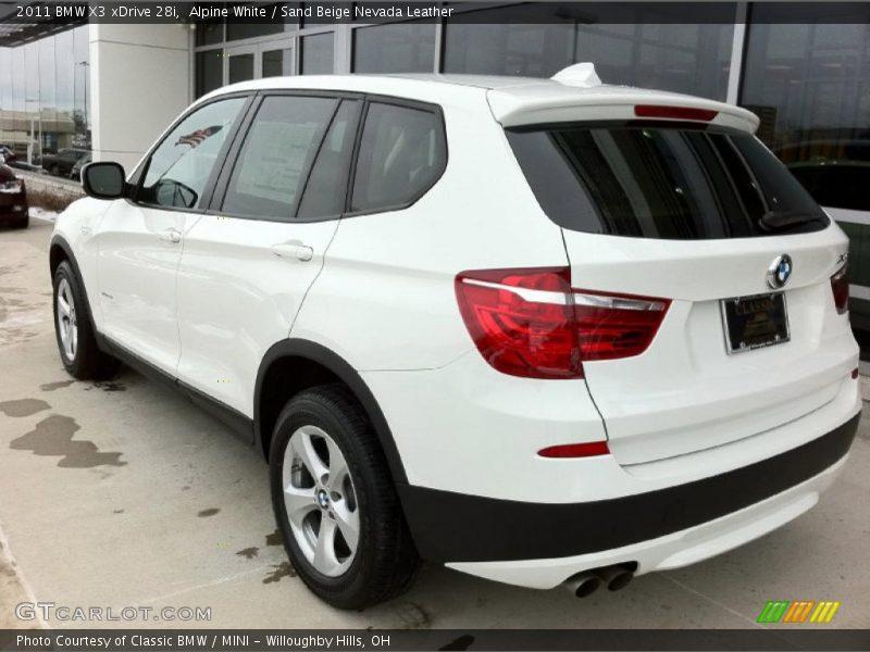 2011 X3 xDrive 28i Alpine White