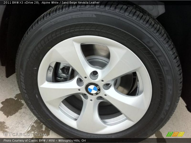 2011 X3 xDrive 28i Wheel