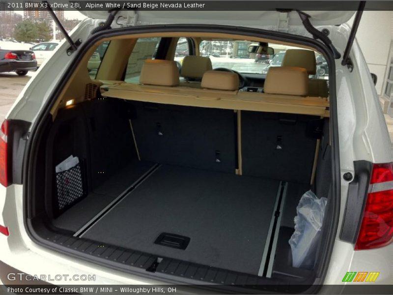2011 X3 xDrive 28i Trunk