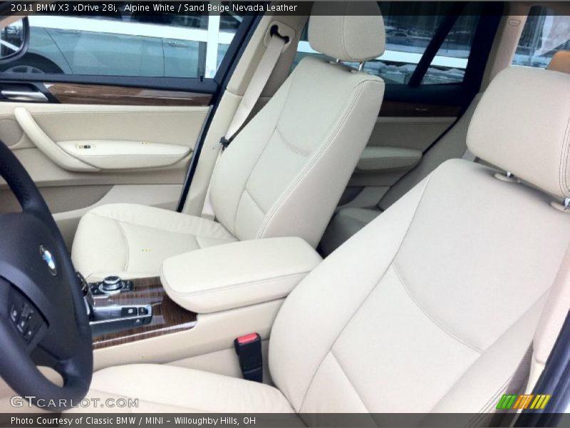 2011 X3 xDrive 28i Sand Beige Nevada Leather Interior