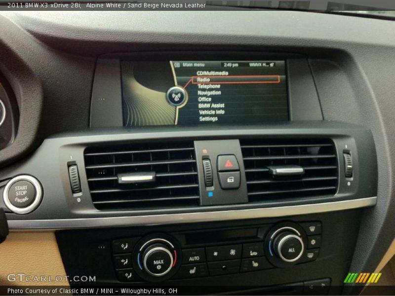 Controls of 2011 X3 xDrive 28i
