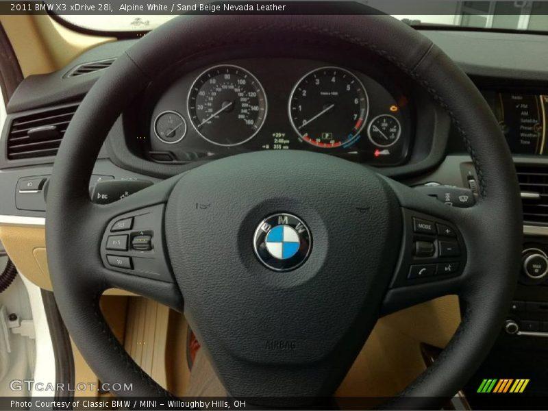 2011 X3 xDrive 28i Steering Wheel
