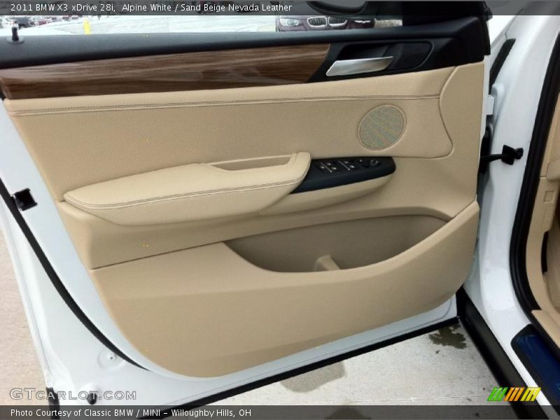 Door Panel of 2011 X3 xDrive 28i