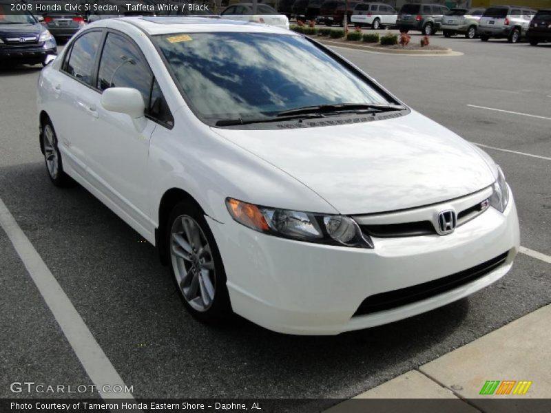 2008 honda civic si sedan in taffeta white photo no for Honda civic si white