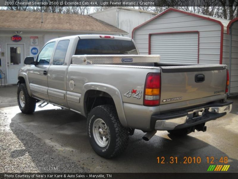 2000 chevrolet silverado 2500 ls extended cab 4x4 in light pewter metallic photo no 42271363. Black Bedroom Furniture Sets. Home Design Ideas