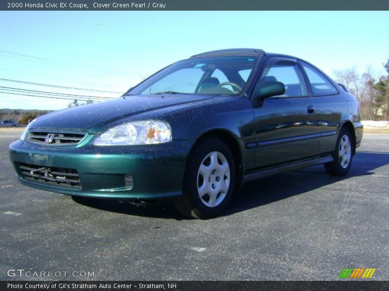 2000 honda civic ex coupe in clover green pearl photo no 42332739. Black Bedroom Furniture Sets. Home Design Ideas