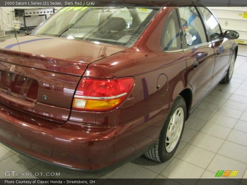 Dark Red / Gray 2000 Saturn L Series LS1 Sedan