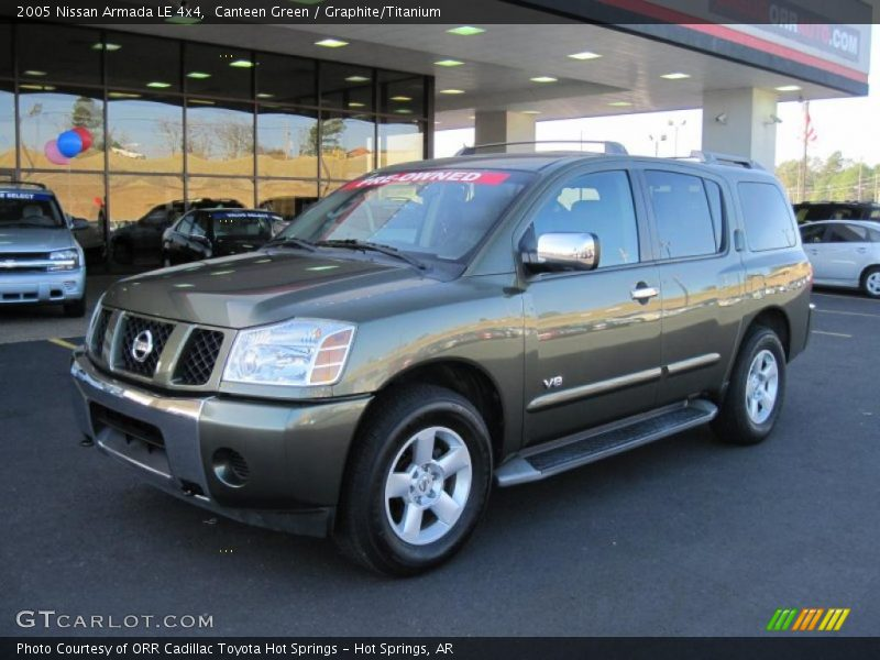 2005 nissan armada le 4x4 in canteen green photo no 42614428. Black Bedroom Furniture Sets. Home Design Ideas