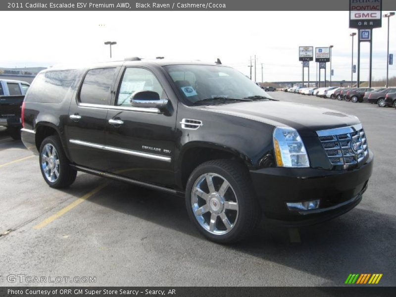 2011 cadillac escalade esv premium awd in black raven. Black Bedroom Furniture Sets. Home Design Ideas