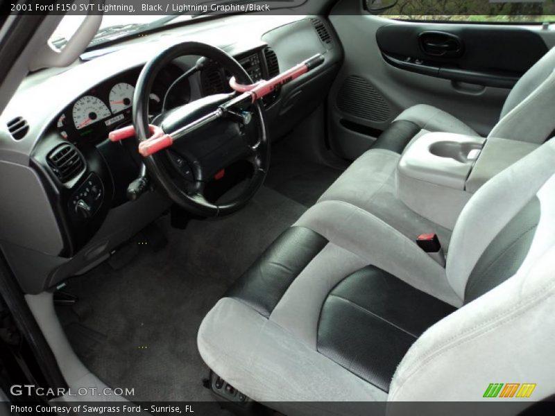 2001 F150 Svt Lightning Lightning Graphite Black Interior Photo No 42979677