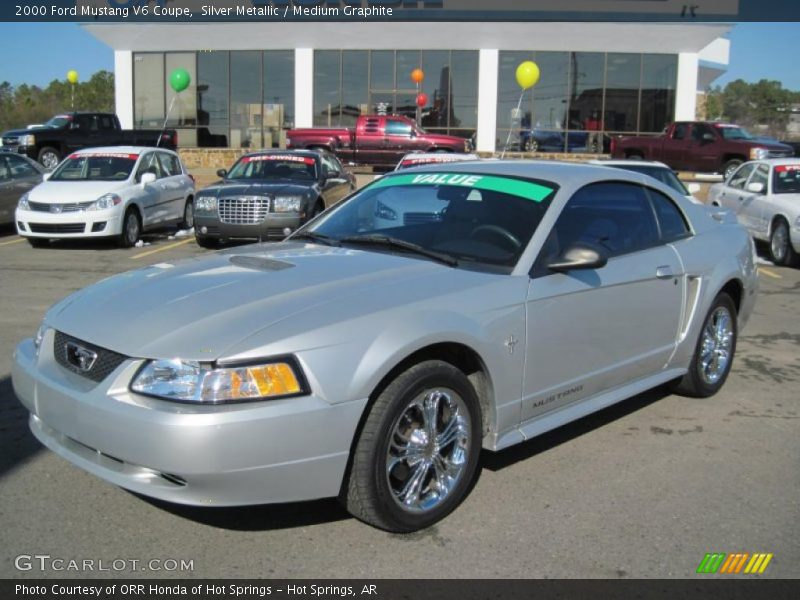 2000 ford mustang v6 coupe in silver metallic photo no. Black Bedroom Furniture Sets. Home Design Ideas