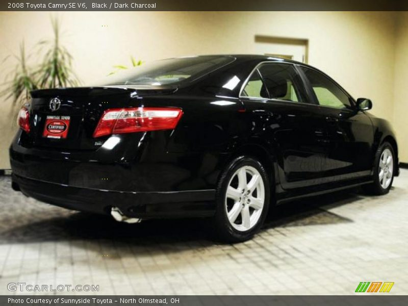 2008 toyota camry se v6 in black photo no 43189726. Black Bedroom Furniture Sets. Home Design Ideas