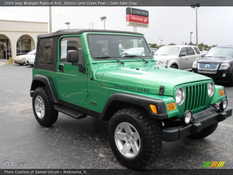 2004 jeep wrangler rubicon 4x4 in electric lime green. Black Bedroom Furniture Sets. Home Design Ideas