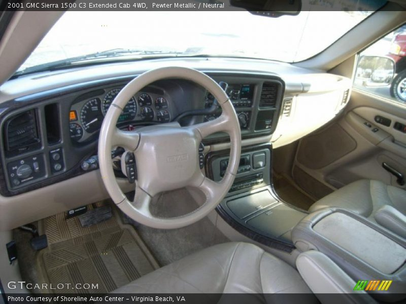 Neutral Interior - 2001 Sierra 1500 C3 Extended Cab 4WD