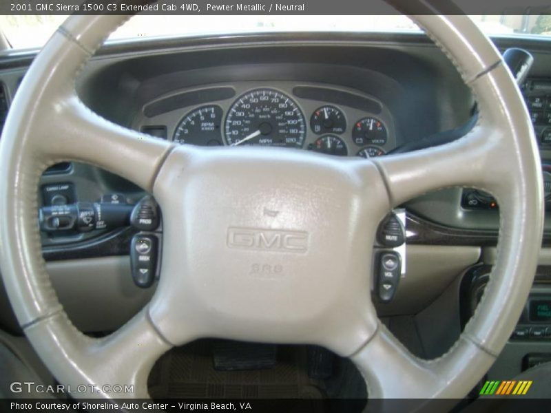 Pewter Metallic / Neutral 2001 GMC Sierra 1500 C3 Extended Cab 4WD
