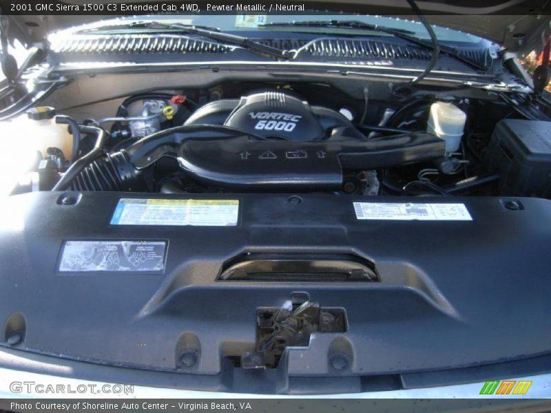 2001 Sierra 1500 C3 Extended Cab 4WD Engine - 6.0 Liter OHV 16-Valve V8