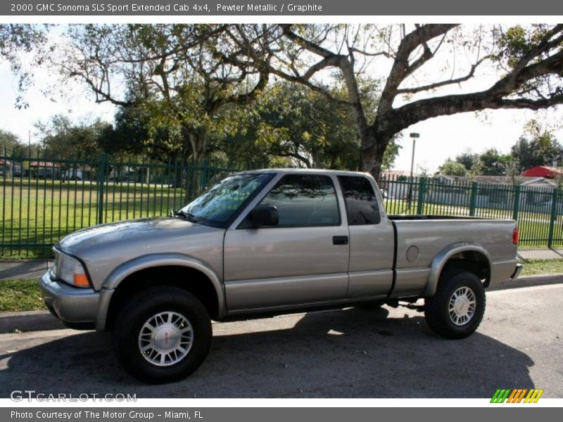 2000 gmc sonoma sls sport extended cab 4x4 in pewter metallic photo no 43410500. Black Bedroom Furniture Sets. Home Design Ideas