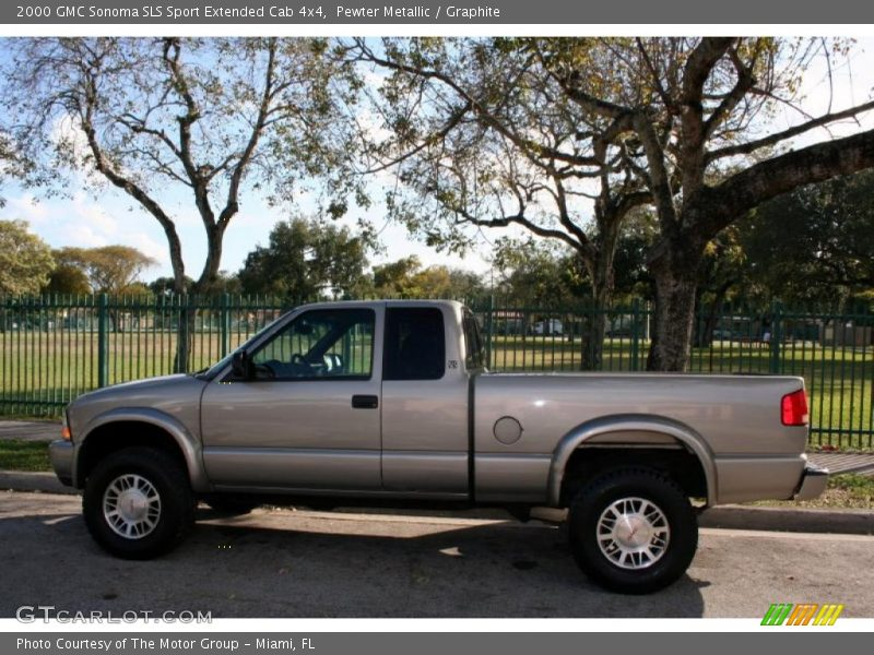 2000 gmc sonoma sls sport extended cab 4x4 in pewter metallic photo no 43410532. Black Bedroom Furniture Sets. Home Design Ideas