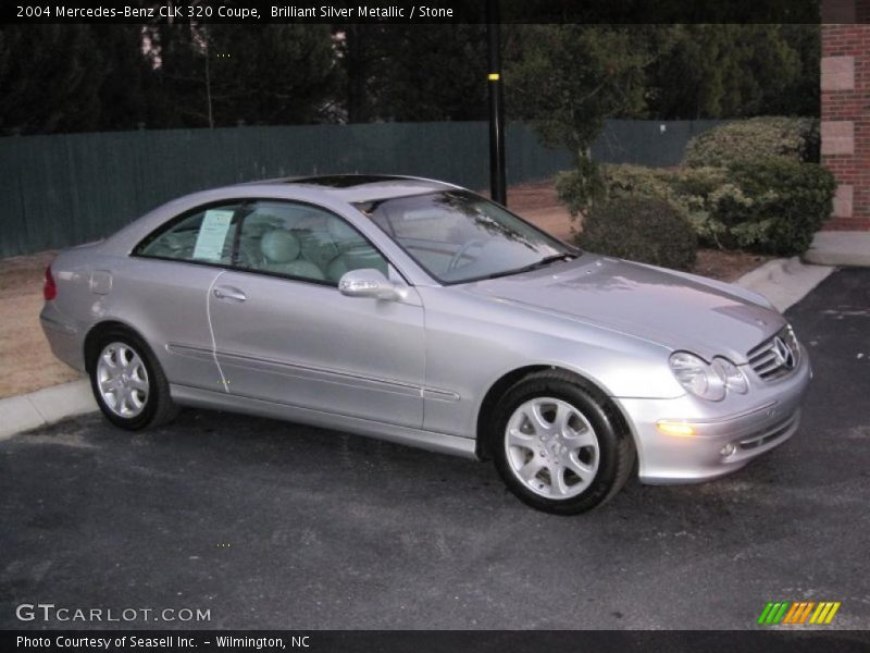 2004 mercedes benz clk 320 coupe in brilliant silver. Black Bedroom Furniture Sets. Home Design Ideas