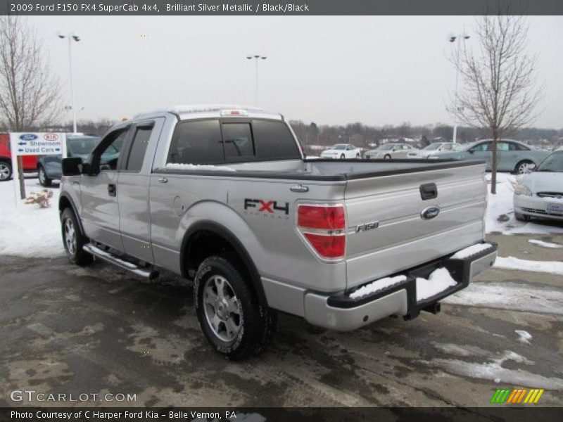 Brilliant Silver Metallic / Black/Black 2009 Ford F150 FX4 SuperCab 4x4