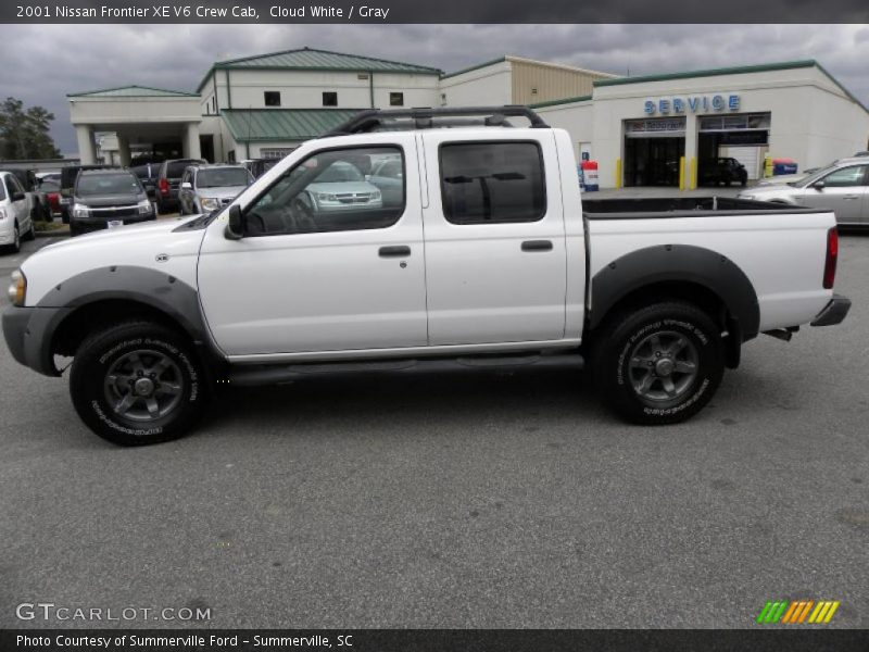 2001 nissan frontier xe v6 crew cab in cloud white photo no 44085650. Black Bedroom Furniture Sets. Home Design Ideas