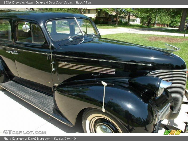 1939 chevrolet master deluxe 4 door sport sedan in black