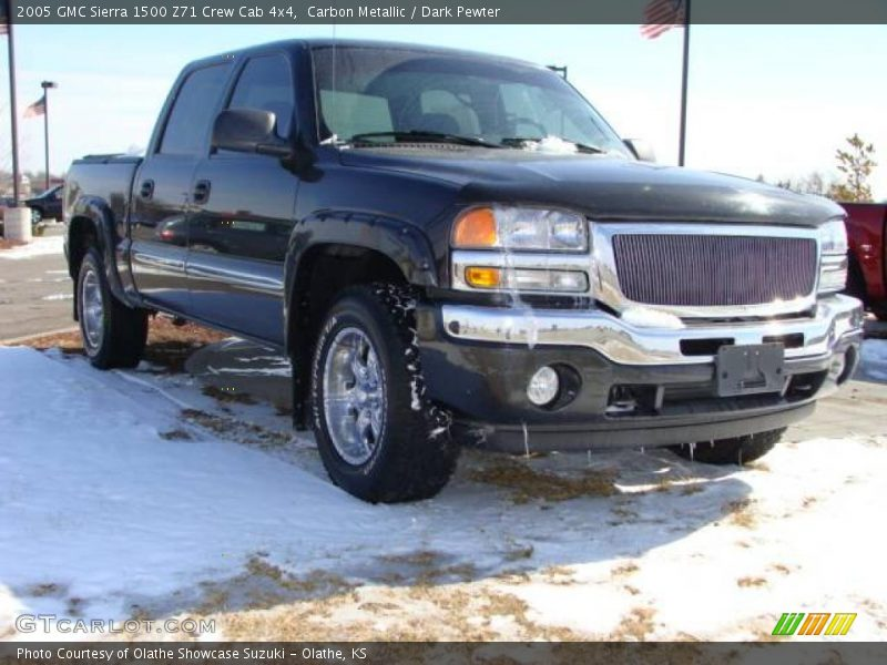 2005 gmc sierra 1500 z71 crew cab 4x4 in carbon metallic. Black Bedroom Furniture Sets. Home Design Ideas