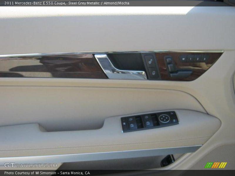 Steel Grey Metallic / Almond/Mocha 2011 Mercedes-Benz E 550 Coupe