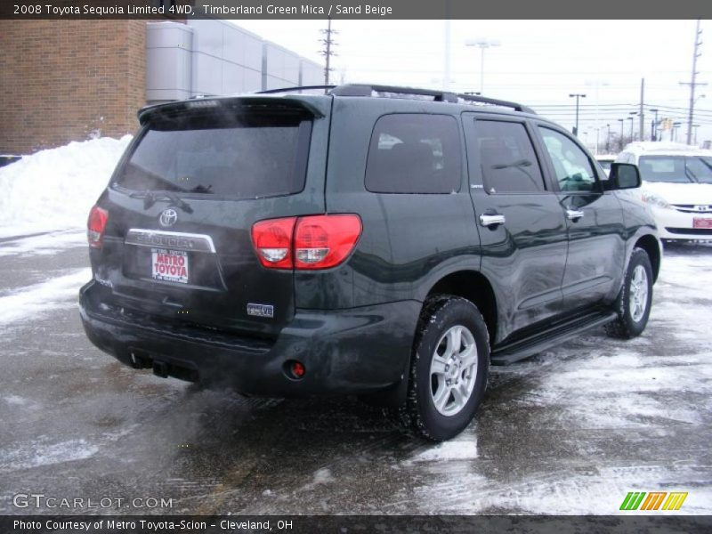 2008 toyota sequoia limited 4wd in timberland green mica. Black Bedroom Furniture Sets. Home Design Ideas