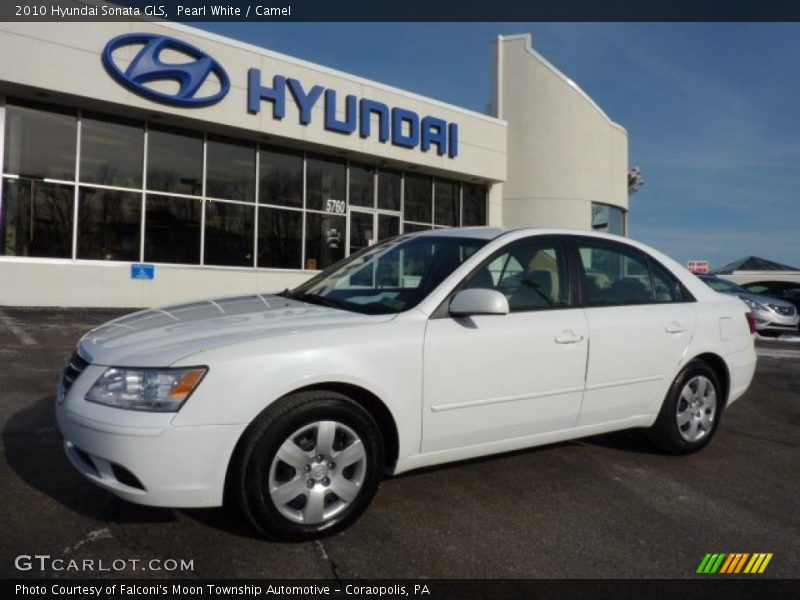 2010 hyundai sonata gls in pearl white photo no 44609358