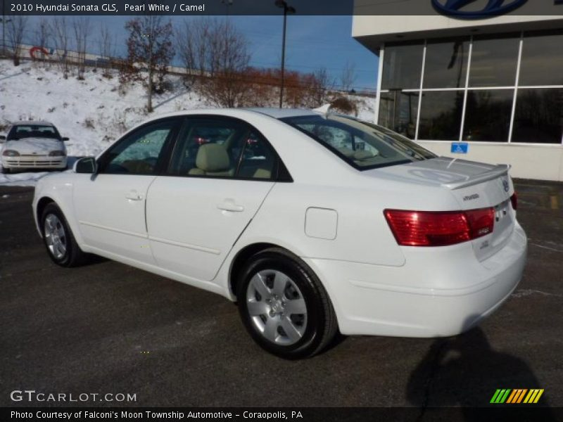 2010 hyundai sonata gls in pearl white photo no 44609374