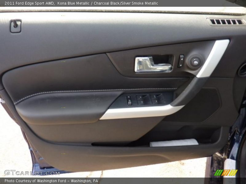 Kona Blue Metallic / Charcoal Black/Silver Smoke Metallic 2011 Ford Edge Sport AWD